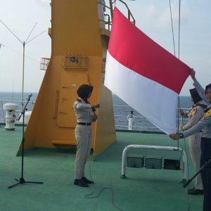 Pelni Gelar HUT RI di Kapal yang Berlayar