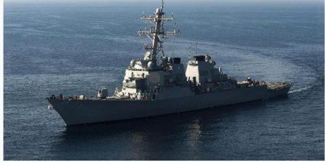 Di Laut Arab Militer Iran Kepung 6 Kapal Perang AS
