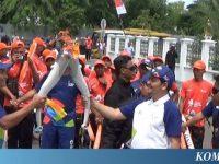 Warga Antusias Saksikan Pawai Obor Asian Games di Banda Aceh