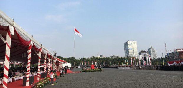 Jokowi-JK Hadiri Upacara Hari Bhayangkara ke-71 di Monas