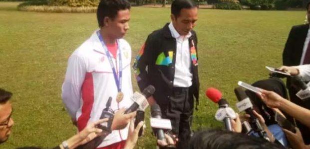 Presiden Jokowi Bertemu Zohri di Istana Bogor