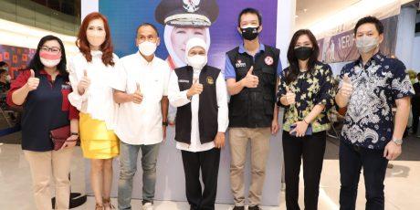 Khofifah Apresiasi AGP Gelar Vaksinasi di Jawa Timur
