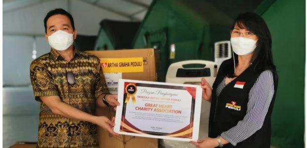 Great Heart Charity Donasi 100 Oksigen concentrator ke AGP