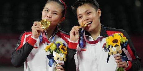Ganda Putri Indonesia Greysia Polii-Apriyani Rahayu Sumbang Emas Untuk Indonesia