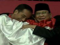 Momen Luar Biasa Hanifan Yudani Peluk Pak Jokowi Dan Prabowo
