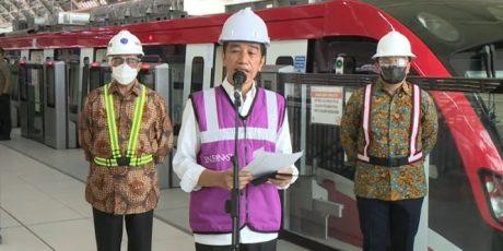 Jokowi: LRT Jabodebek Beroperasi Juni 2022