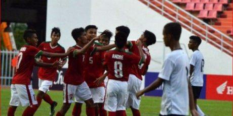 Piala Asia U-16, Timnas Indonesia Bantai Laos