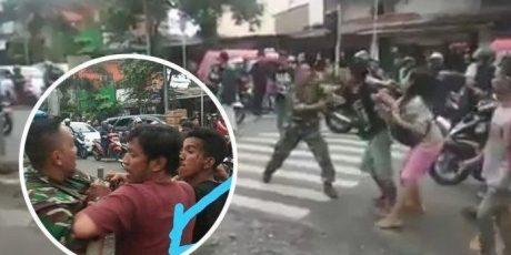 Anggota TNI Dikeroyok Juru Parkir di Ciracas